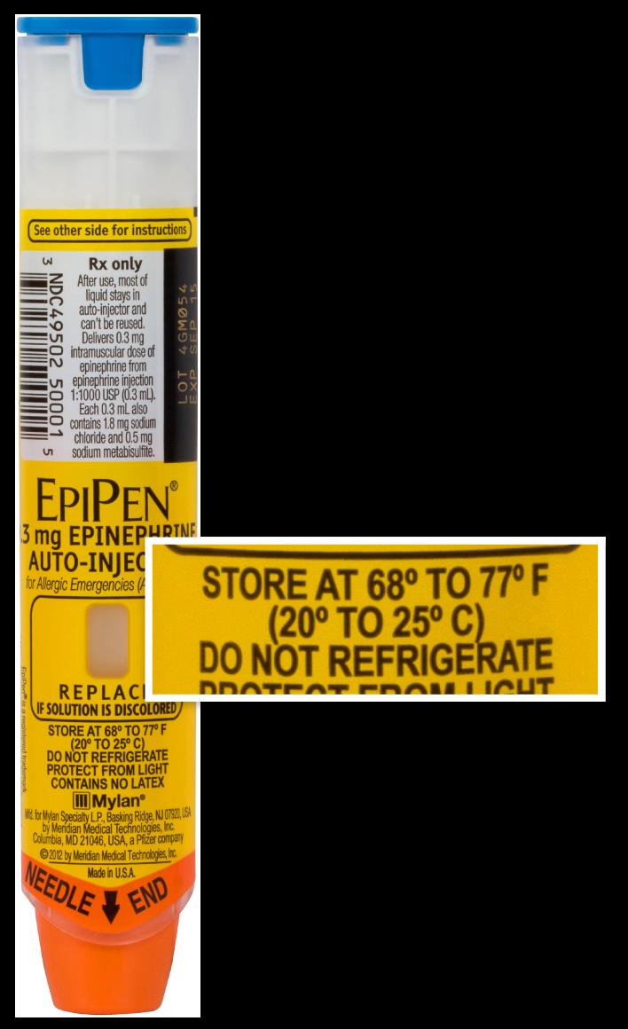 Epinephrine Storage